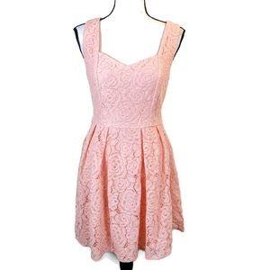 Francesca's Dina Be Pink Lace Sleeveless Dress NWT